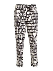 Clips - Printed pants in black and white