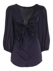 Clips - Bow shirt in blue