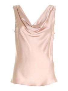 Clips - Satin top in pink
