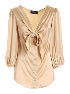 Clips - Bow shirt in beige