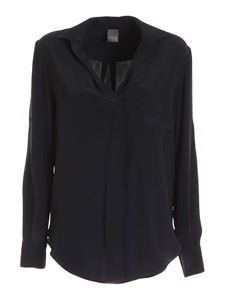 Lorena Antoniazzi - Patch pocket blouse in blue