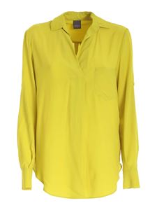 Lorena Antoniazzi - Patch pocket blouse in lime green