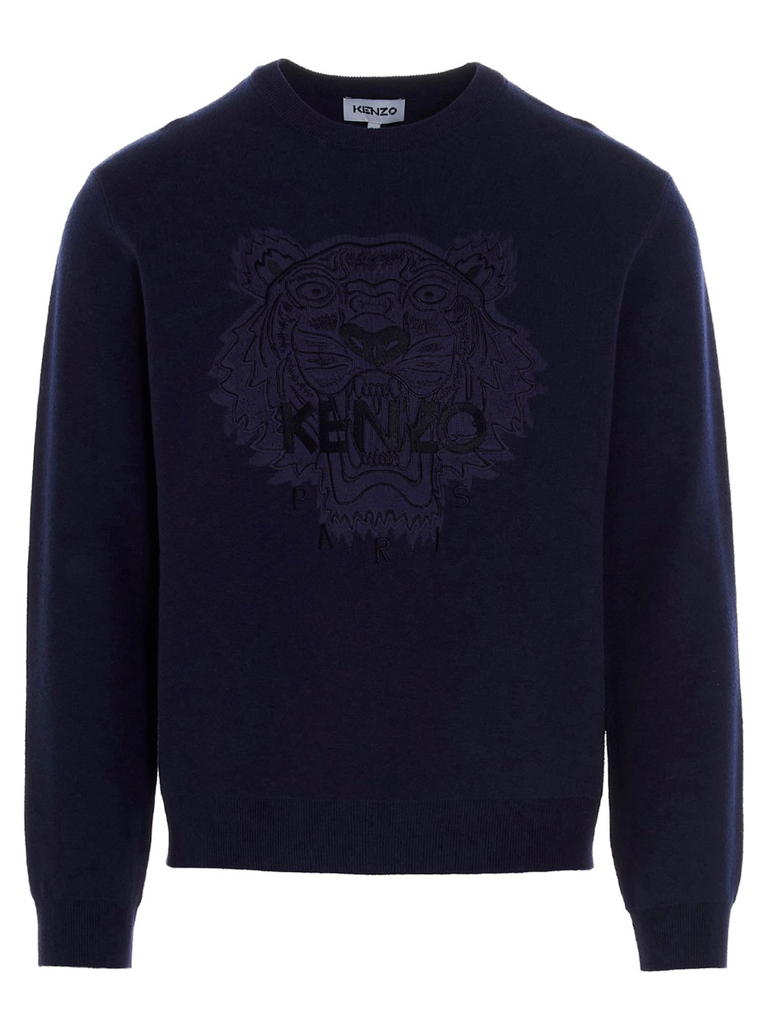 Kenzo ICON TIGER HEAD SWEATER IN BLUE