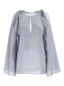 Ballantyne - Bows blouse in light blue