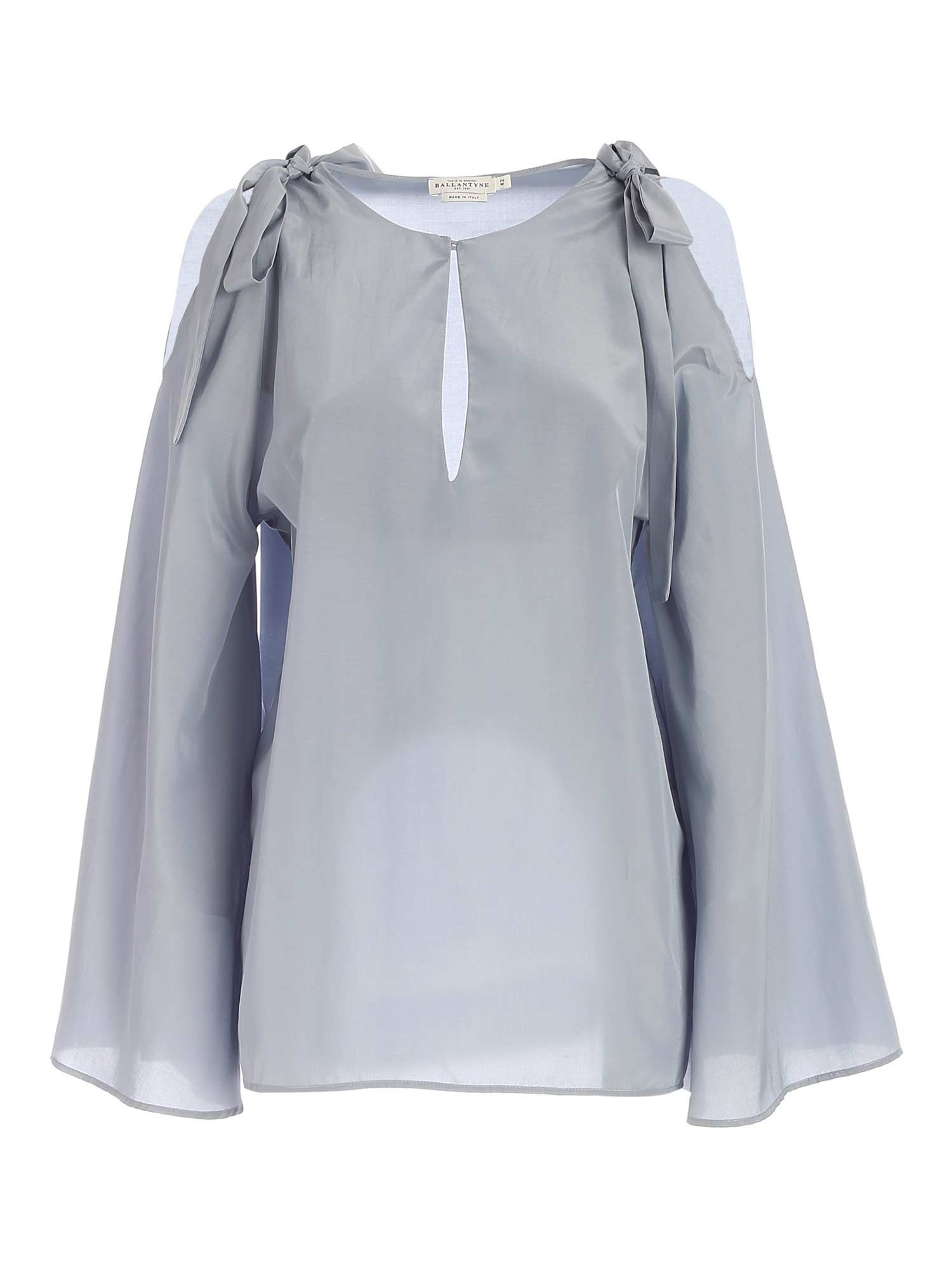 Ballantyne BOWS BLOUSE IN LIGHT BLUE