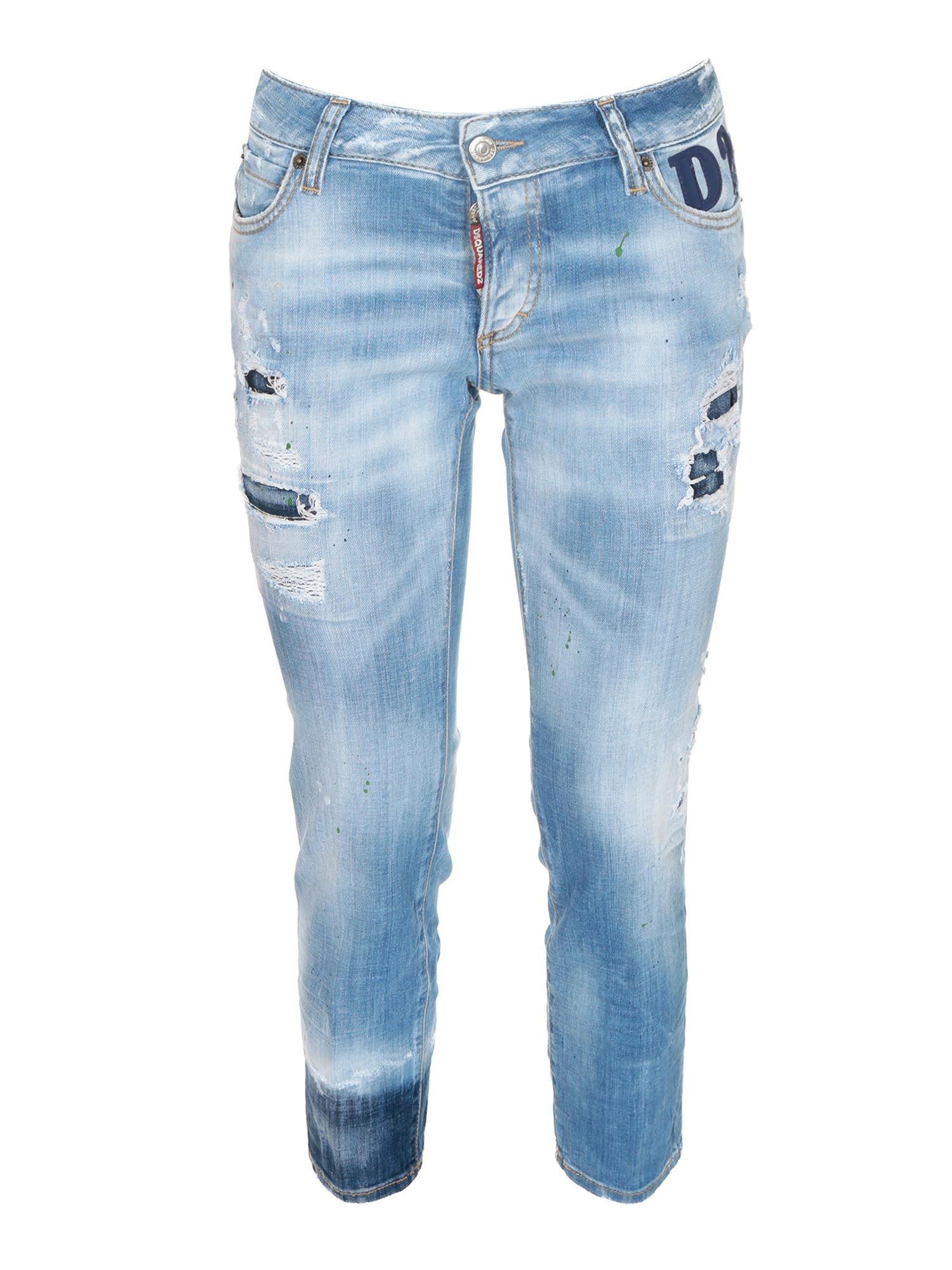 Dsquared2 JENNIFER CROPPED JEANS IN LIGHT BLUE