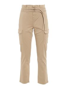 7 For All Mankind - Paperbag cargo trousers in beige