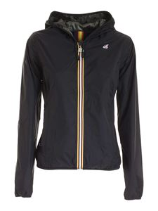 K-way - Lily Plus Double Graphic jacket in black