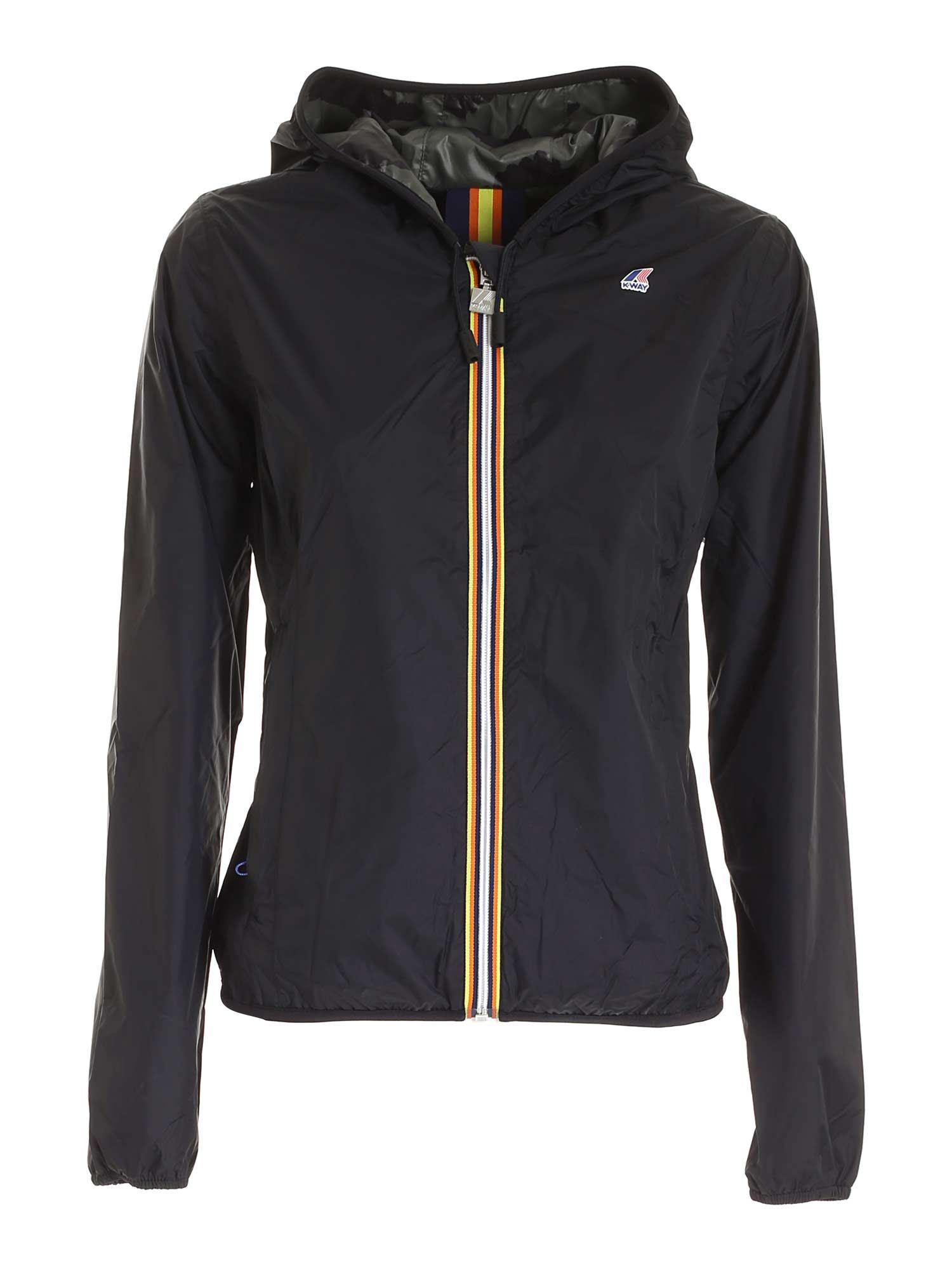 K-Way LILY PLUS DOUBLE GRAPHIC JACKET IN BLACK