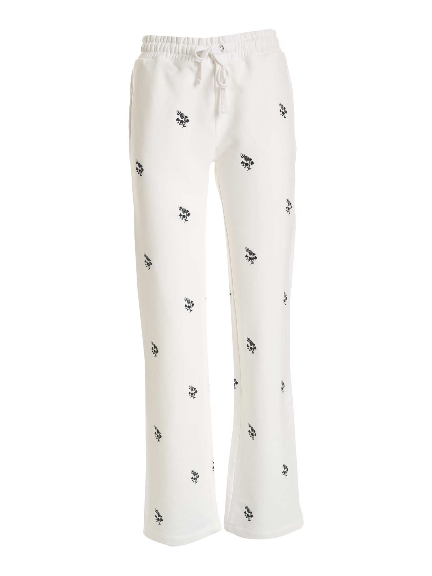 Red Valentino Cottons EMBROIDERY PANTS IN WHITE
