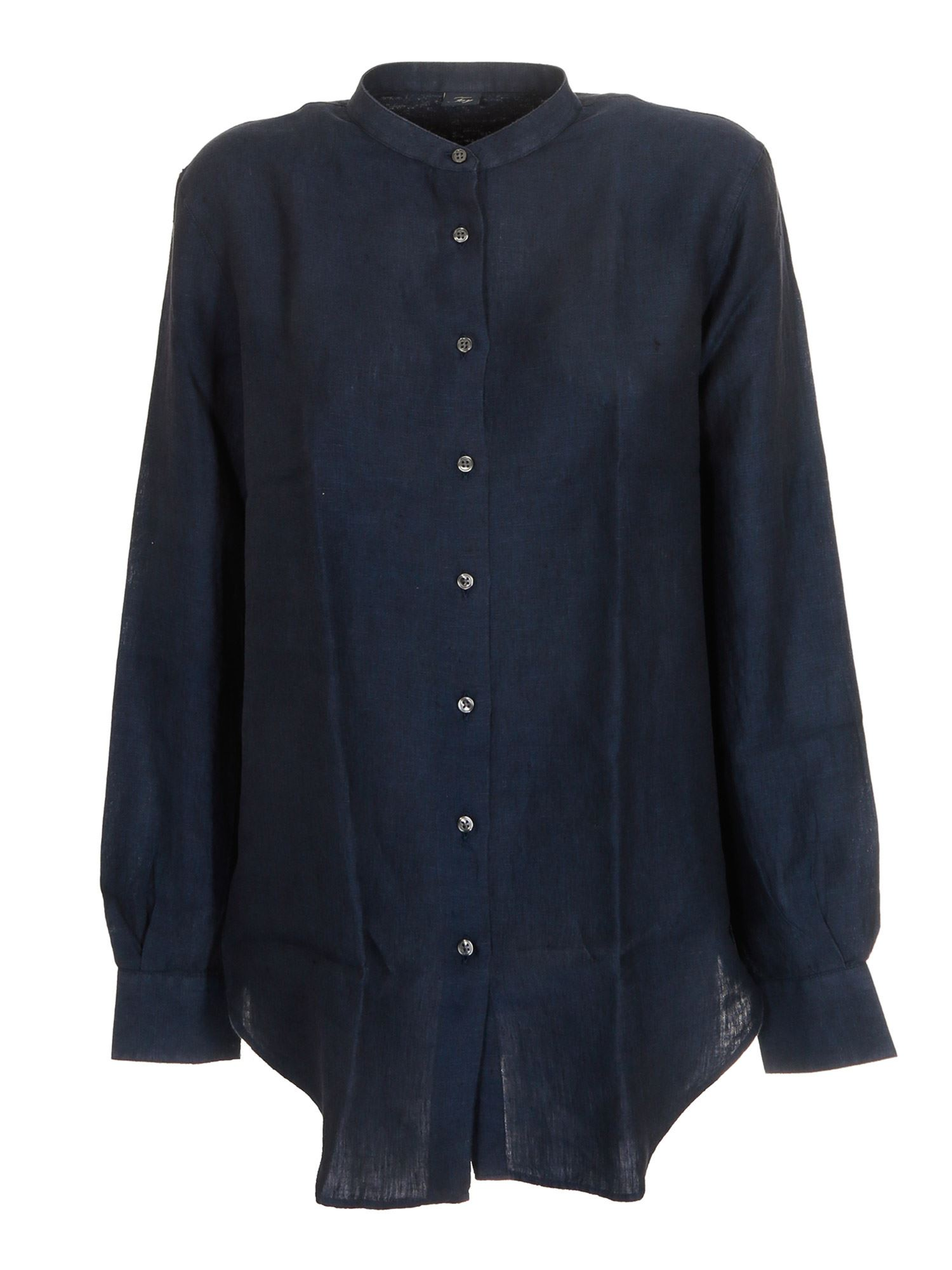 Fay MANDARIN COLLAR SHIRT IN BLUE