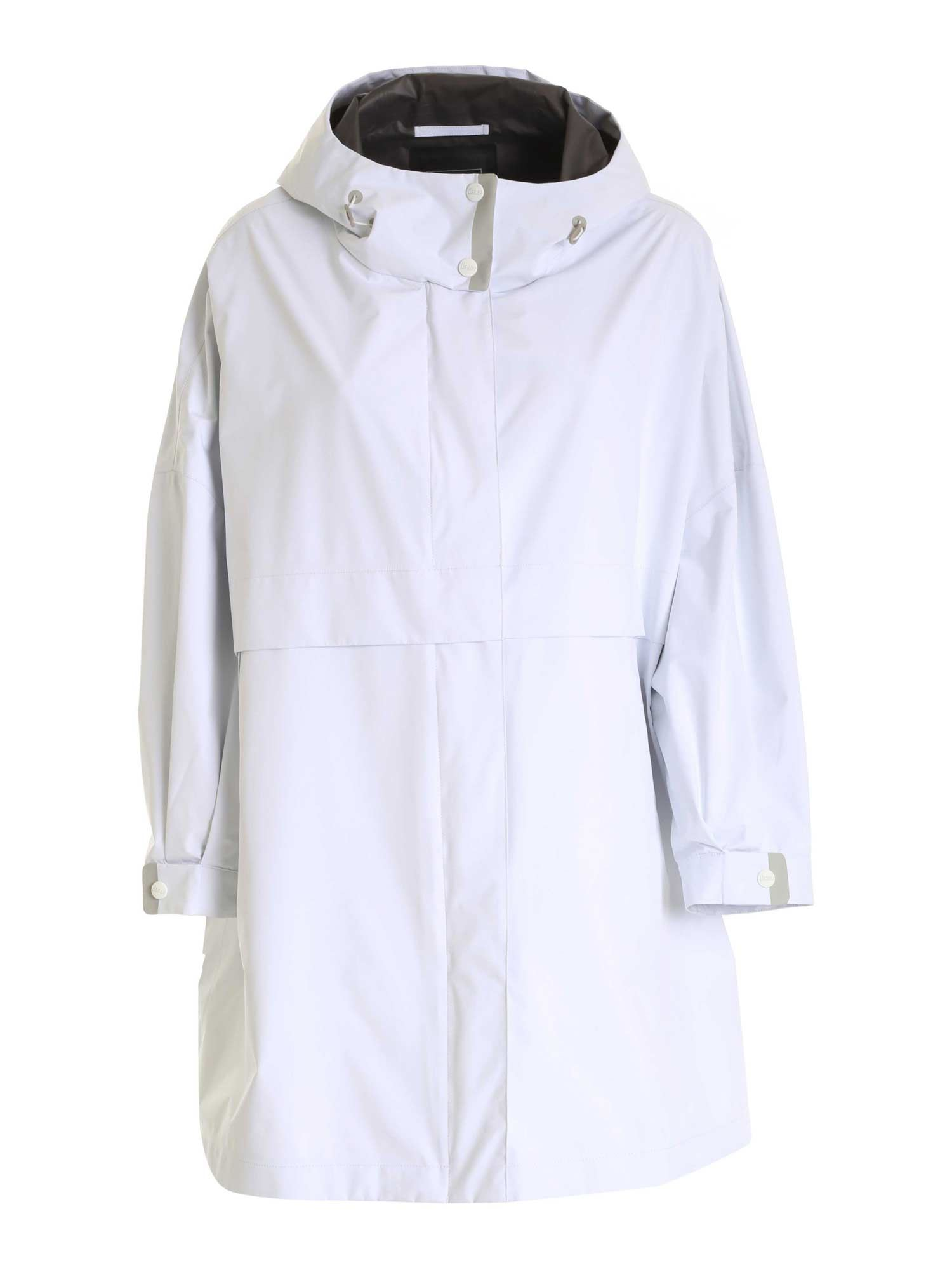 Herno HOODED RAINCOAT IN WHITE