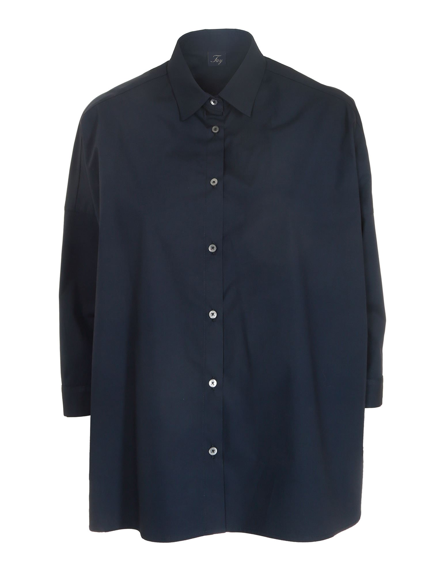 Fay OVERSIZED SHIRT IN BLUE