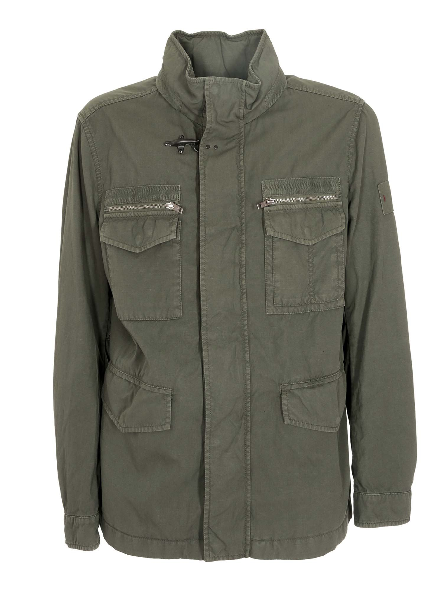 Fay Cottons FIELD JACKET IN GREEN