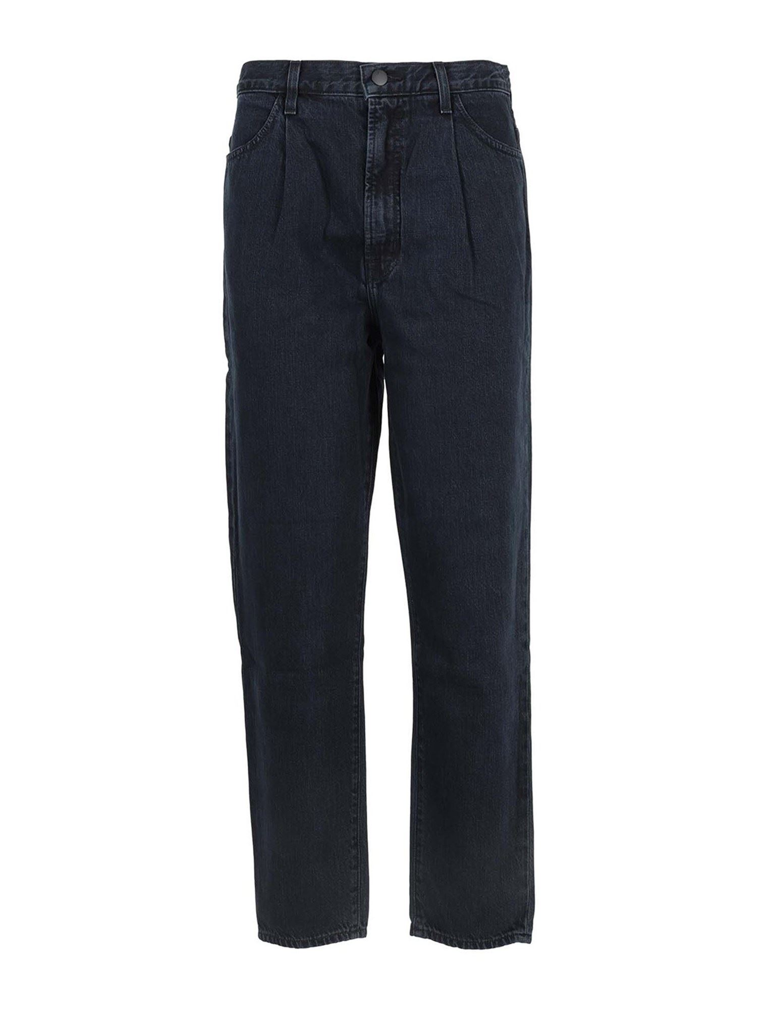 J Brand PLEATED PEG JEANS IN BLUE
