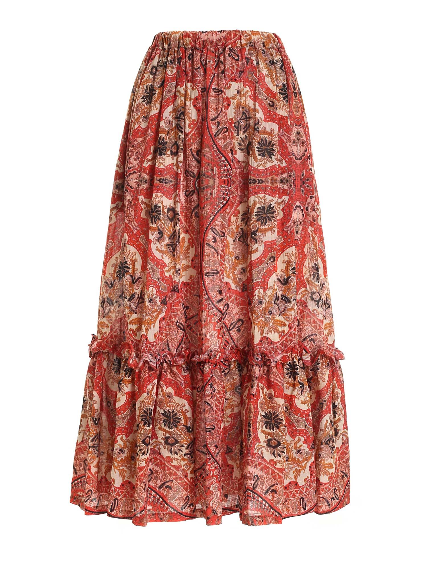 Etro PRINTED MULTICOLOR SKIRT