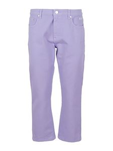 MSGM - Bootcut five-pocket trousers in purple