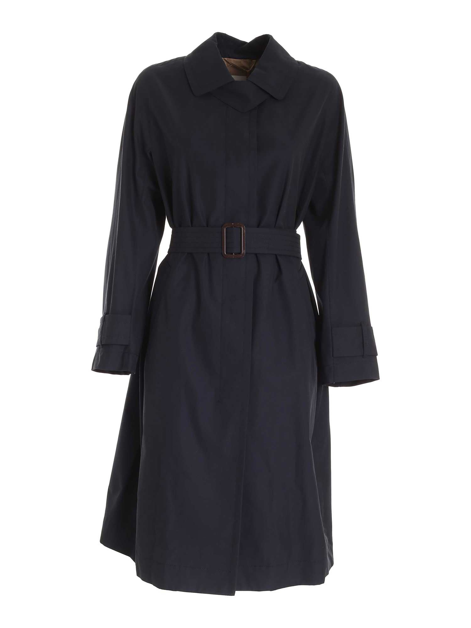 Max Mara Cottons AIMPER TRENCH COAT IN BLUE