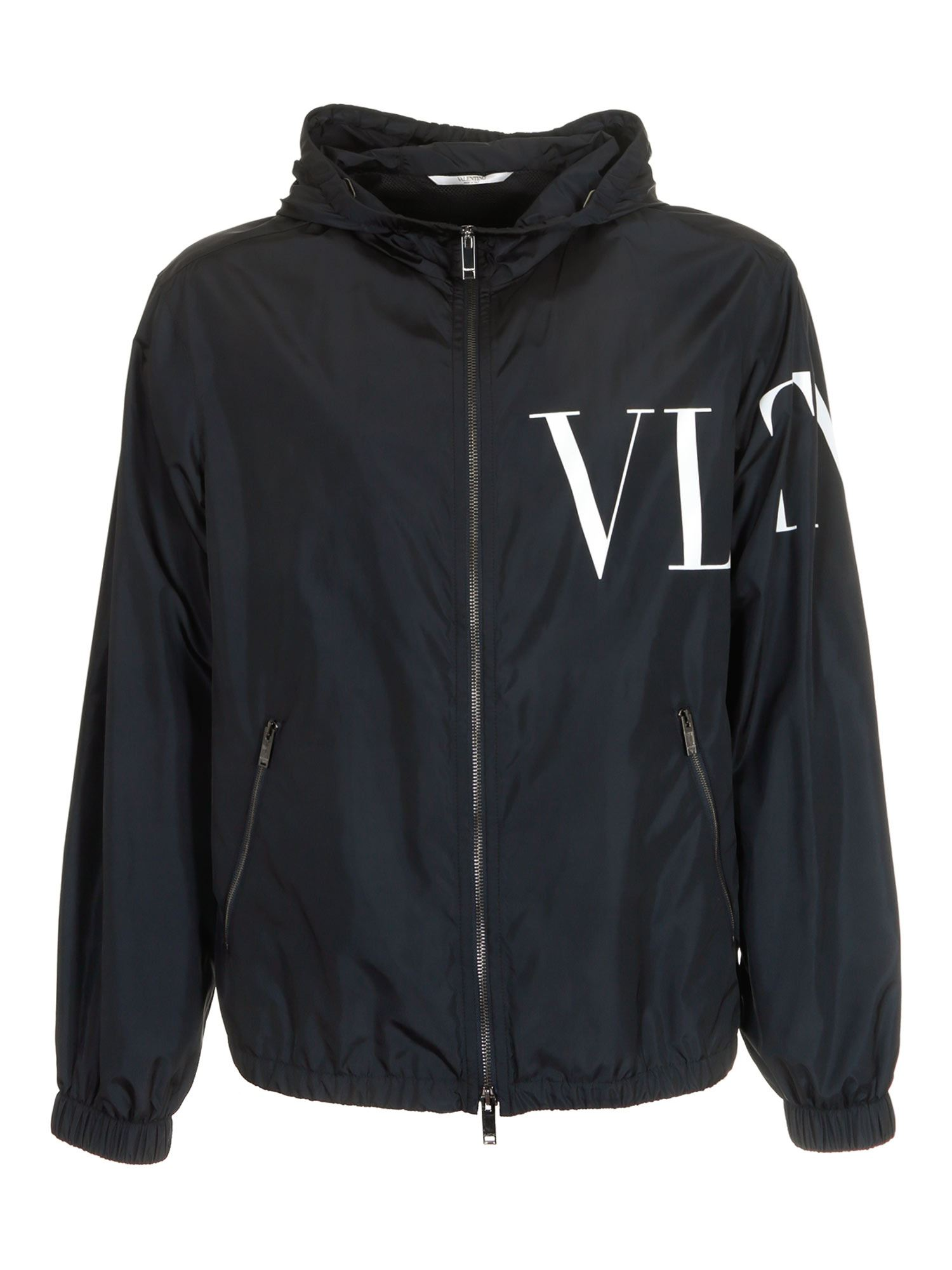 Valentino Jackets VLTN JACKET IN BLUE AND WHITE