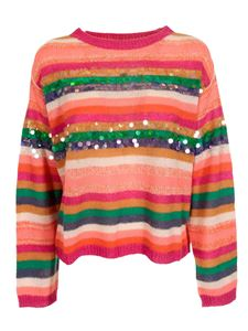 MY TWIN Twinset - Sequins detailed sweater in orange