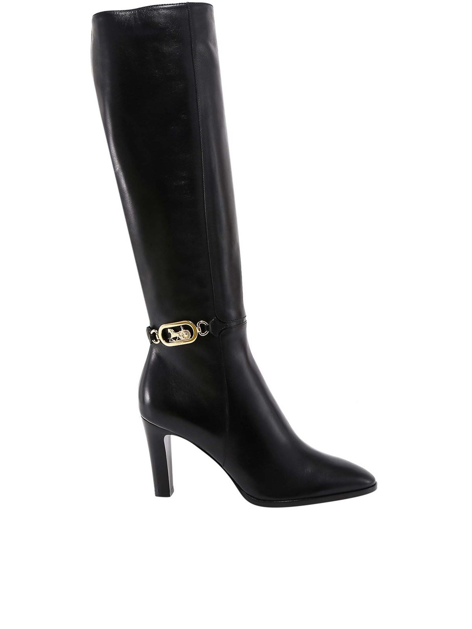 Celine LEATHER BOOTS IN BLACK