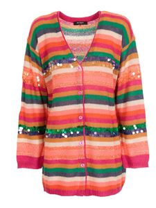 MY TWIN Twinset - Sequins detailed cardigan in orange
