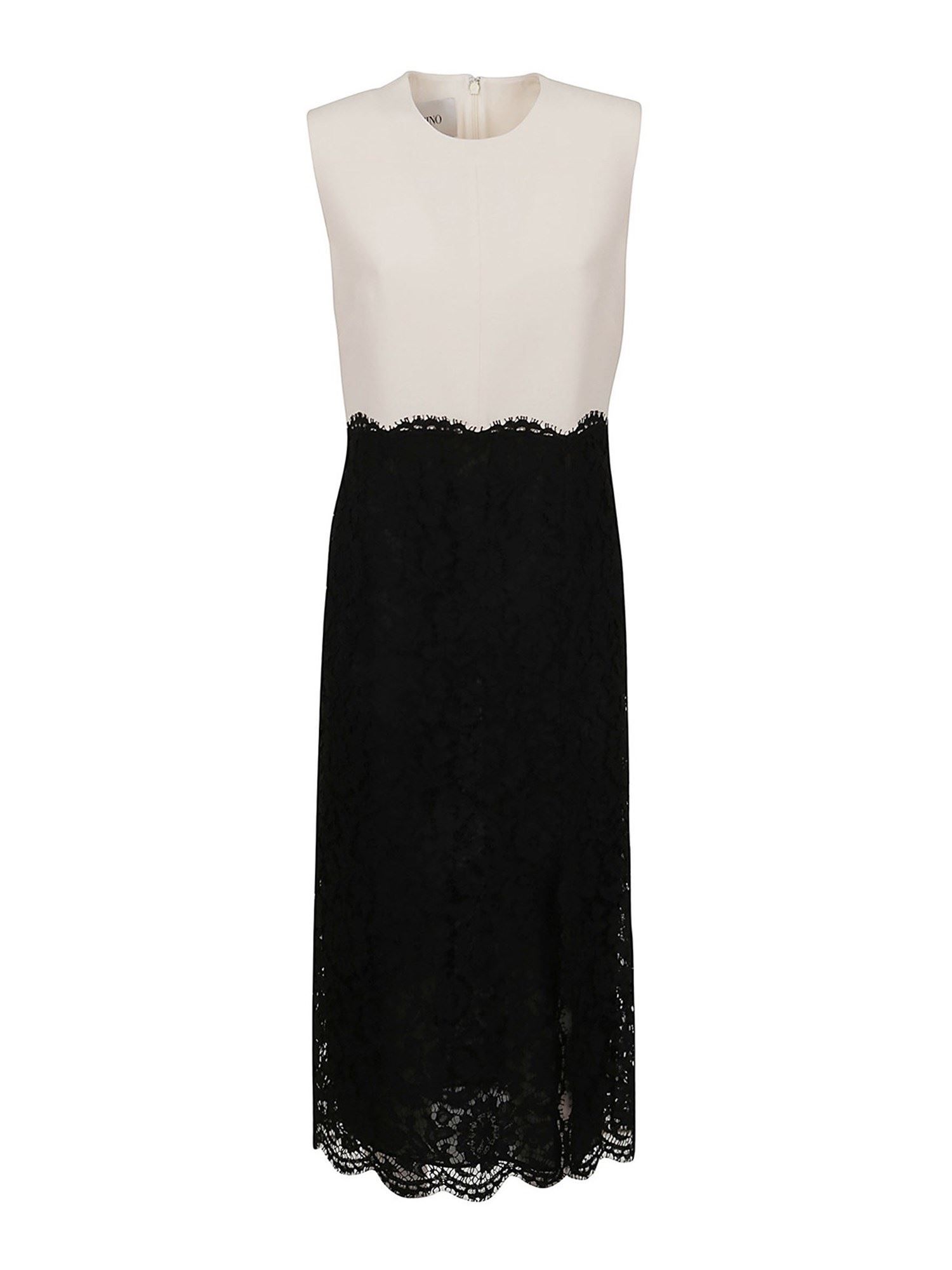 Valentino LACE-DETAILED LONG DRESS
