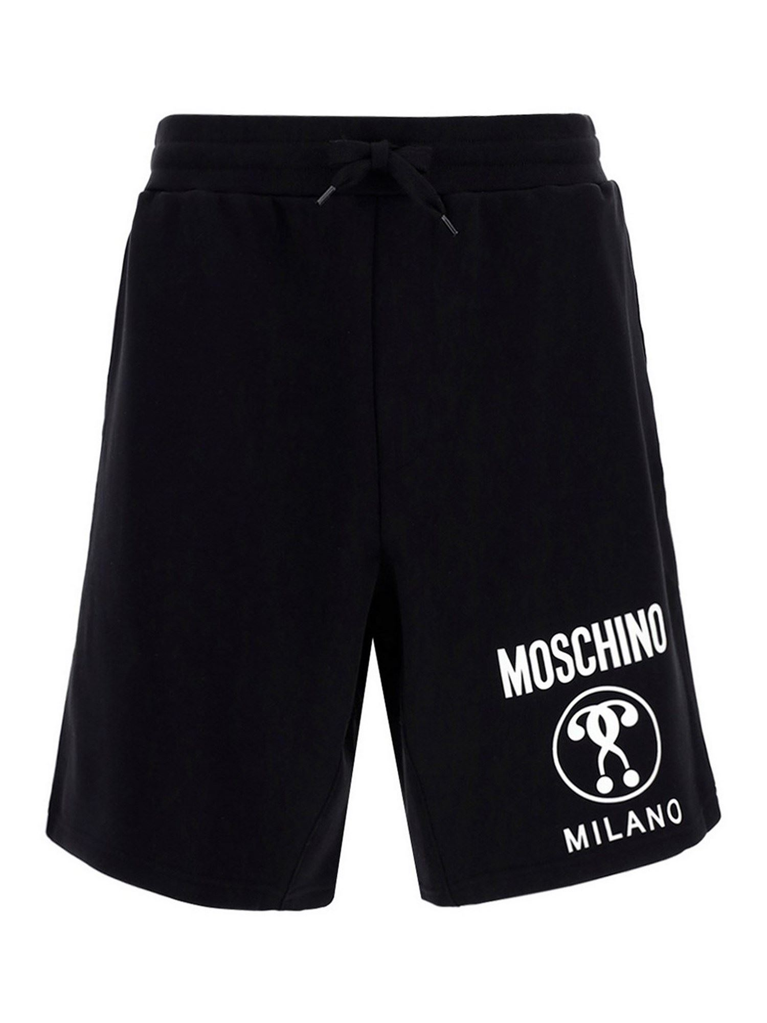 Moschino DOUBLE QUESTION MARK SHORTS IN BLACK