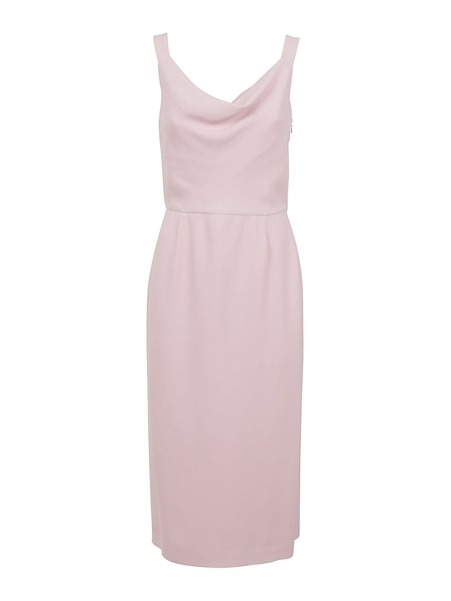 Valentino FITTED WAIST LONG DRESS IN PINK