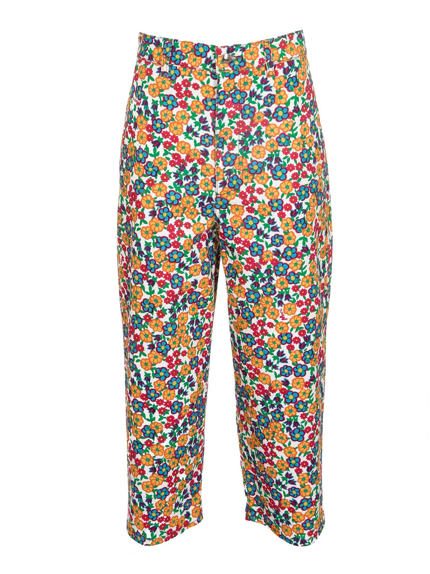 Marni WIDE FLORAL PANTS