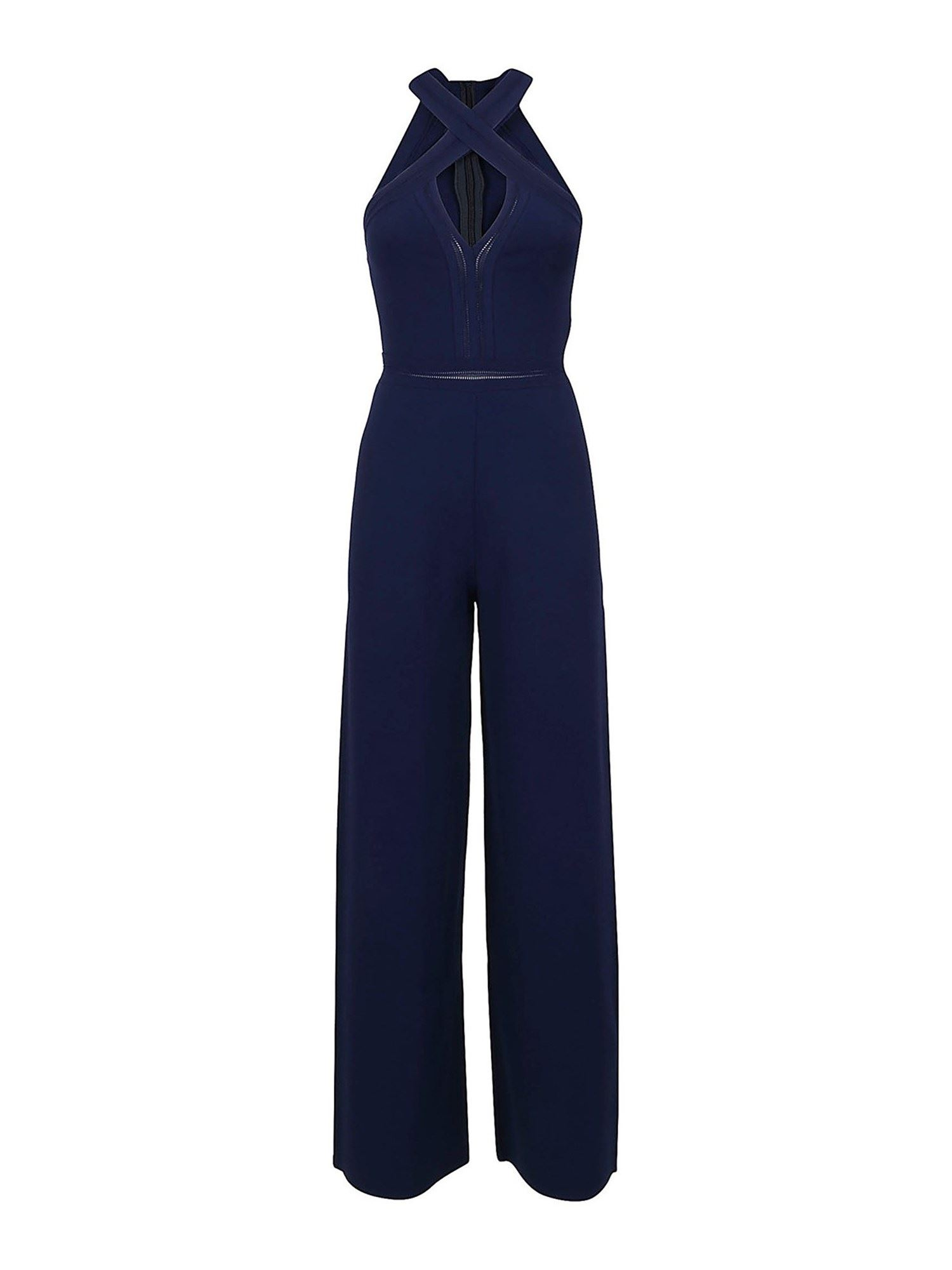 Stella Mccartney STELLA MCCARTNEY HALTER NECK JUMPSUIT IN BLUE