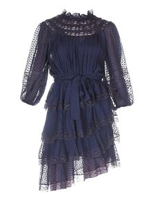 Zimmermann - Chiffon silk-viscose blend dress in blue