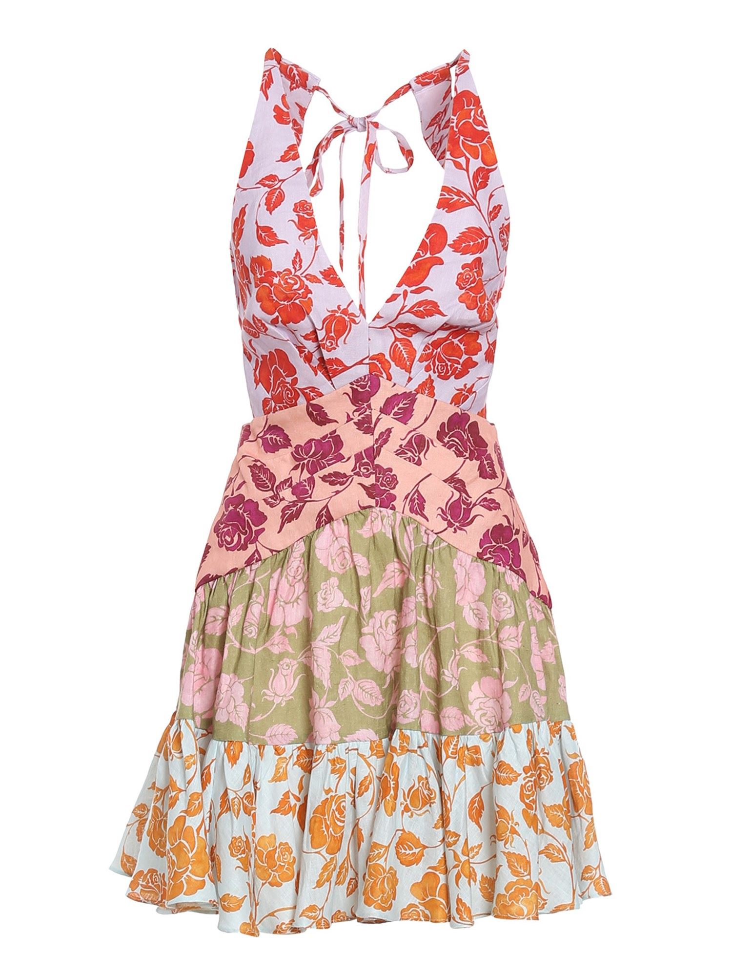 Zimmermann THE LOVESTRUCK LINEN MULTICOLOR DRESS