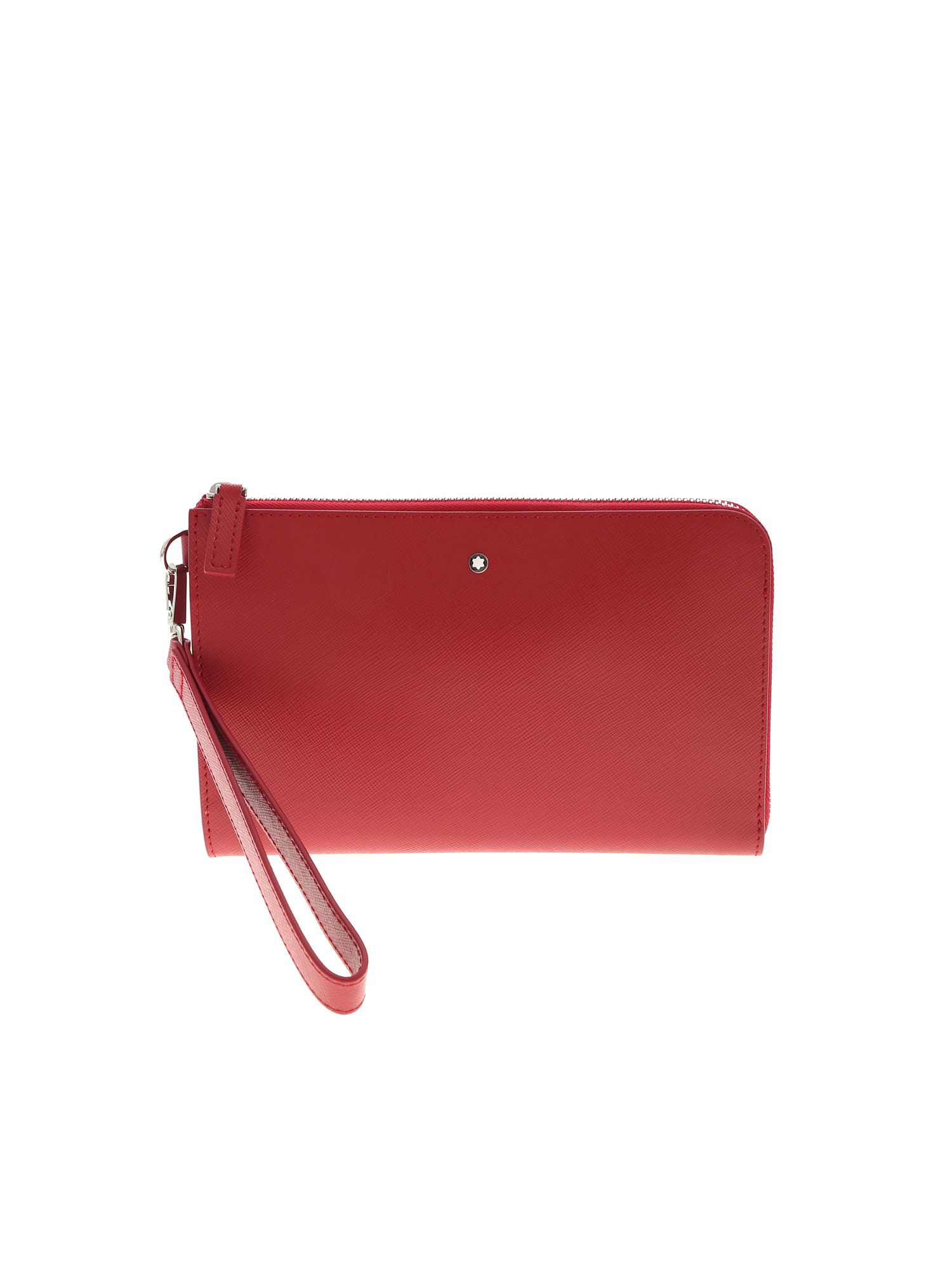 Montblanc Leathers LOGO DETAIL BAG IN RED