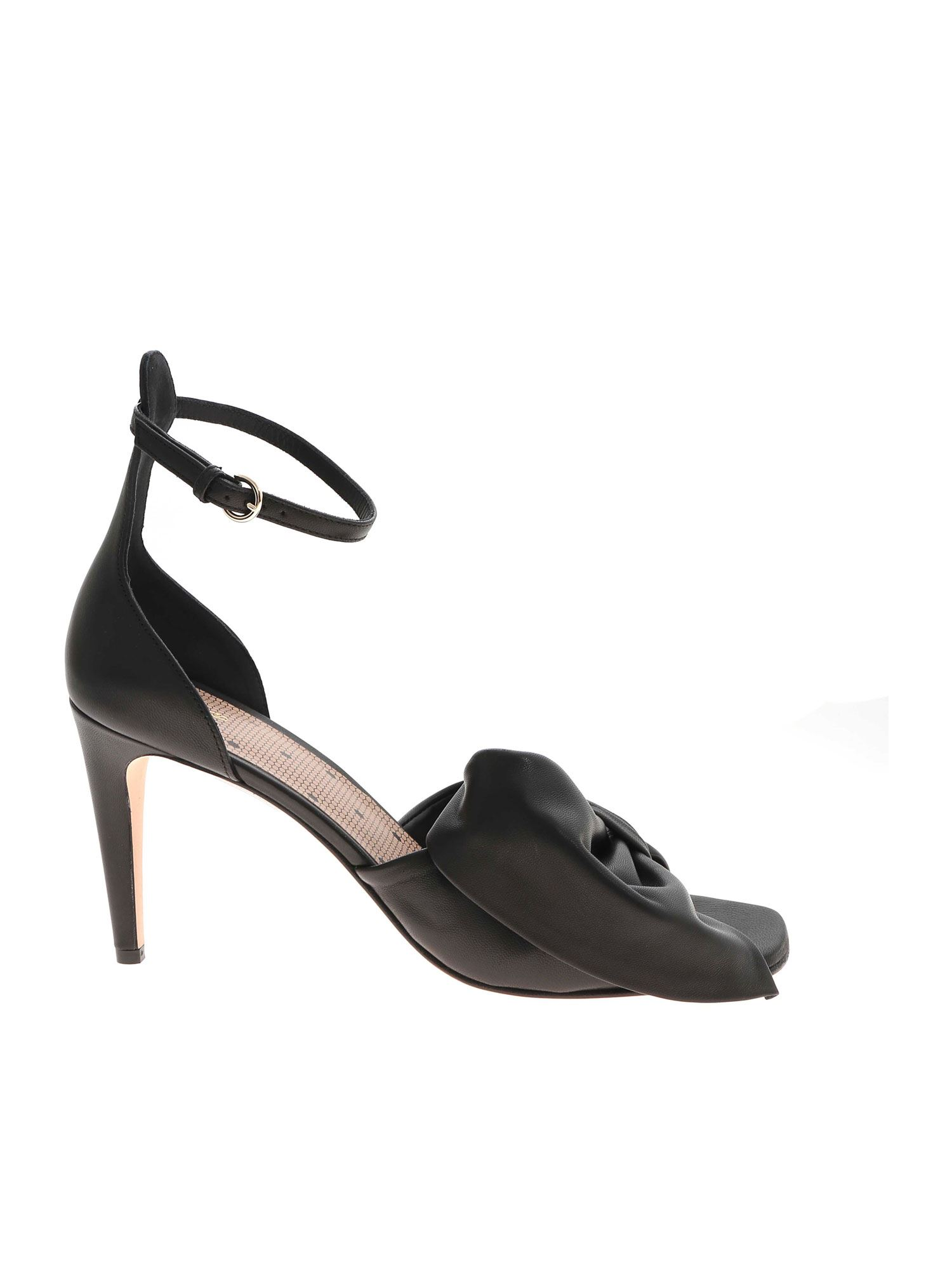 Red Valentino BOW SANDALS IN BLACK