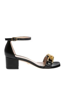 Stuart Weitzman - Amelina 50 Chain sandals in black