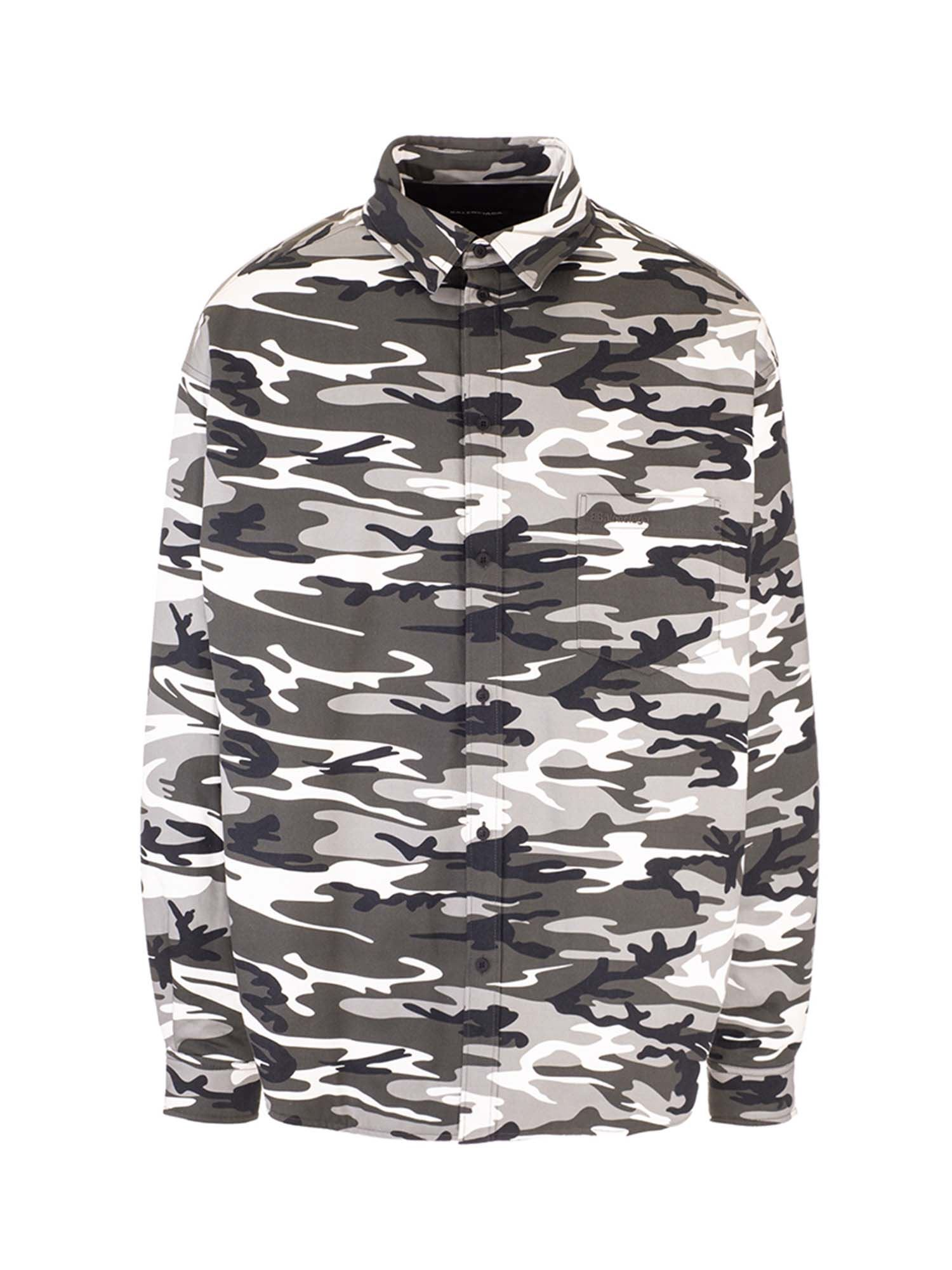 Balenciaga CAMOUFLAGE SHIRT IN GRAY