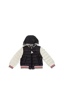 Moncler Jr - Doset jacket in blue and white