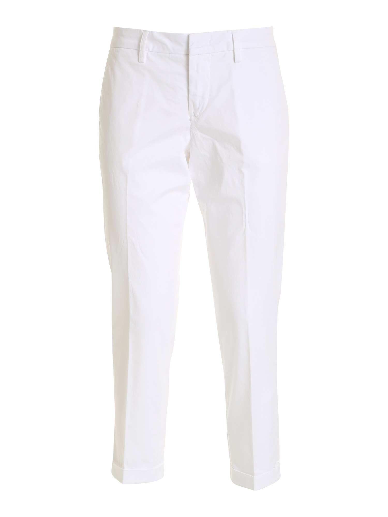 Fay Cottons CHINO PANTS IN WHITE