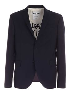 Moschino - Single-breasted suit in blue