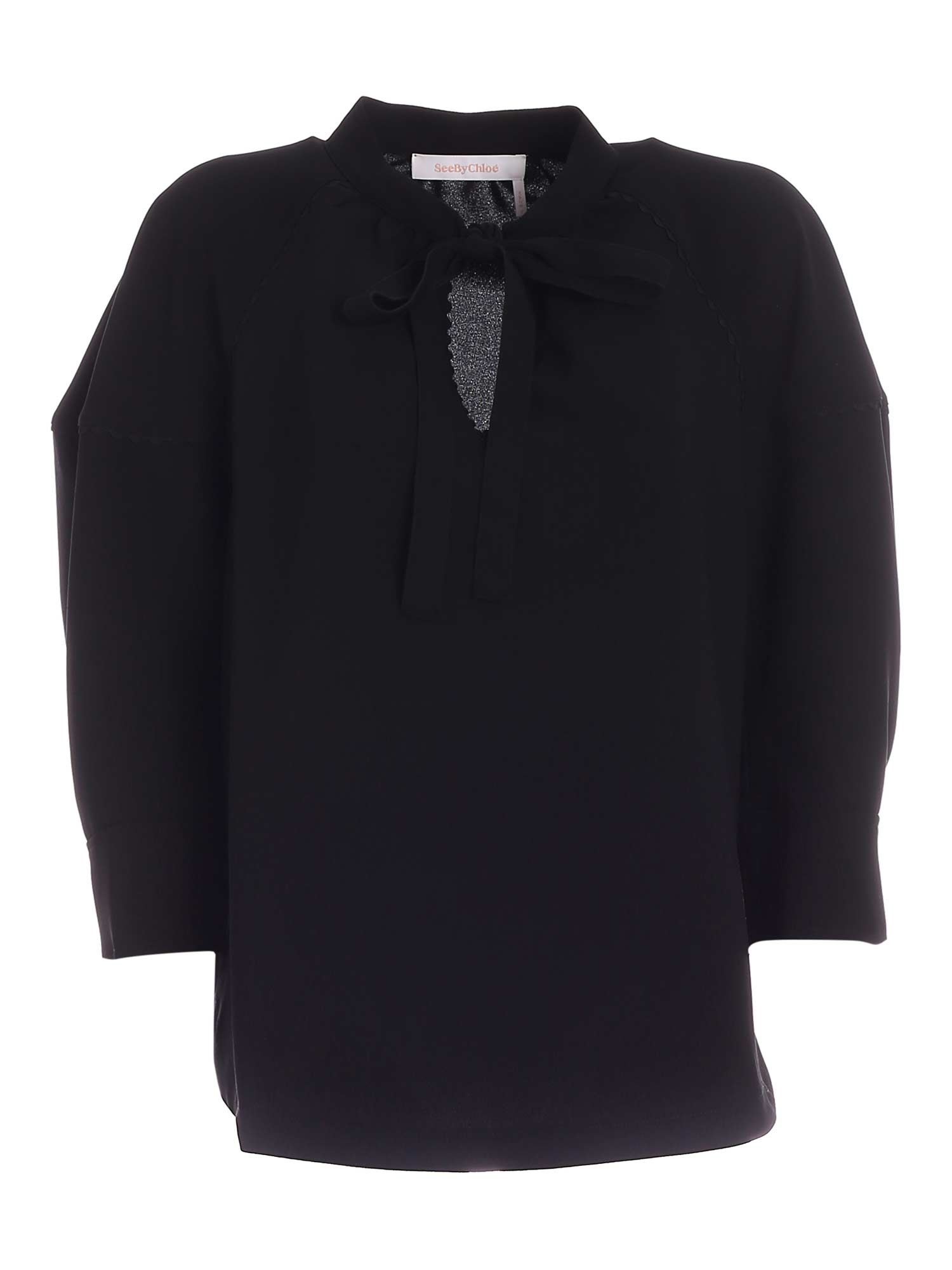 See By Chloé BOW BLOUSE IN BLACK