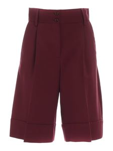 See by Chloé - Flared shorts in burgundy color