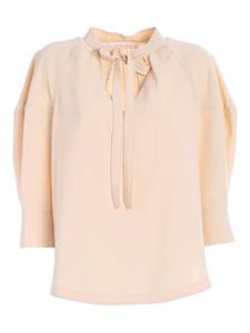 See by Chloé - Bow blouse in beige