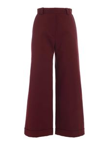 See by Chloé - Wide leg pants in burgundy color