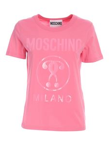 Moschino - T-shirt Double Question Mark rosa