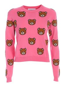 Moschino - Pullover cropped Teddy Bear rosa