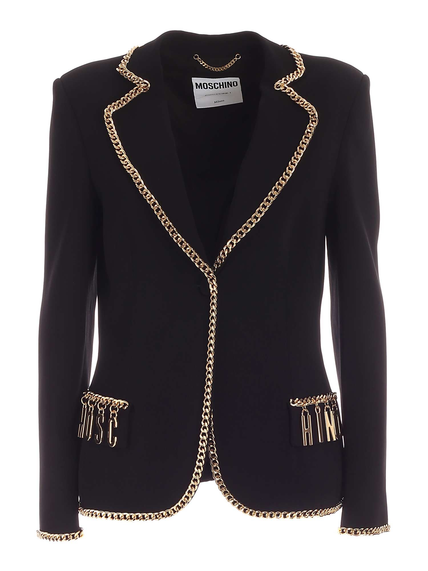 Moschino METAL DETAILS JACKET IN BLACK