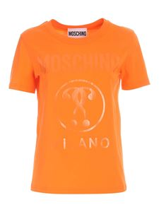 Moschino - T-shirt Double Question Mark arancione