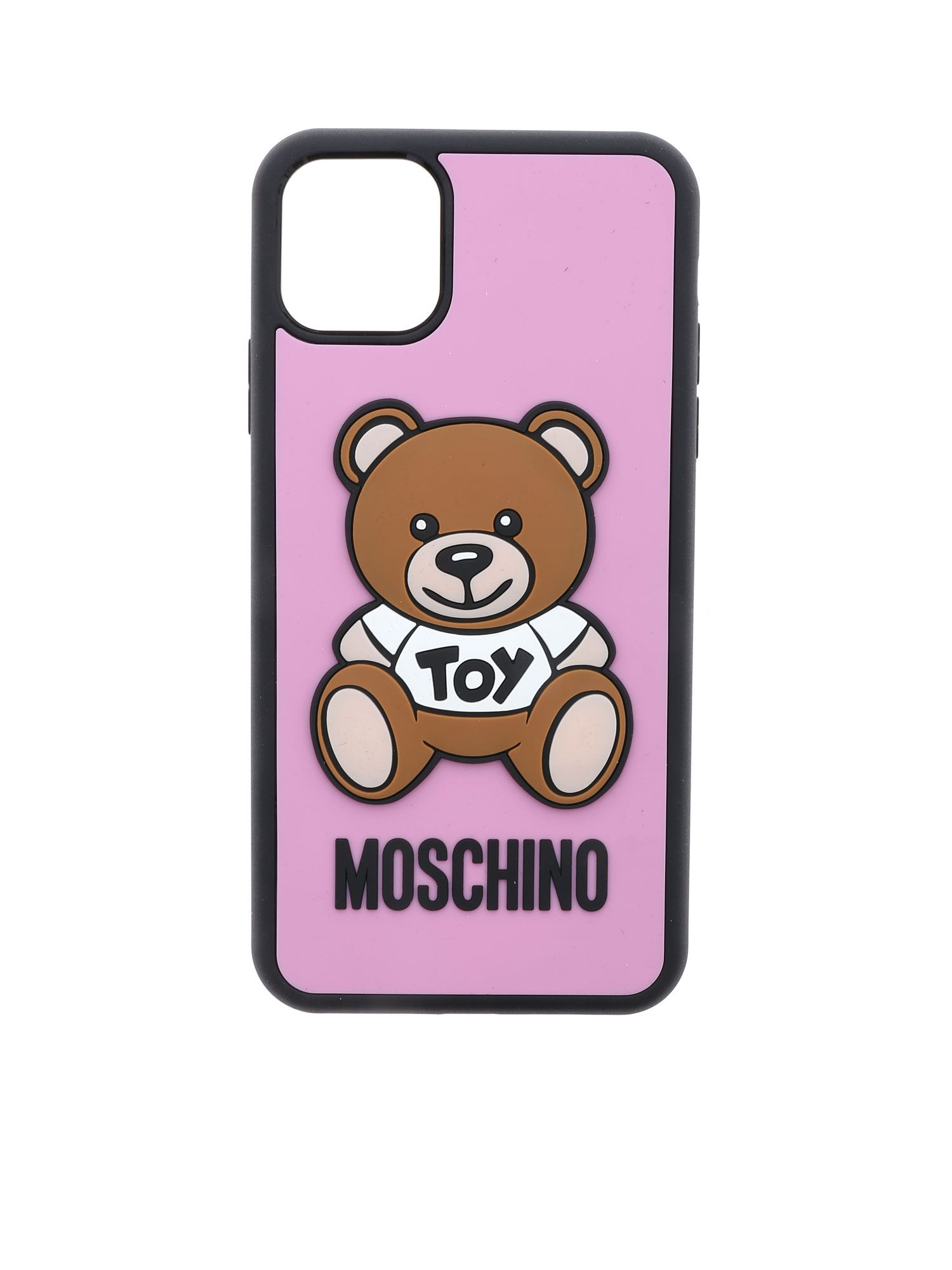 Moschino TEDDY BEAR IPHONE 11 PRO MAX COVER IN PINK