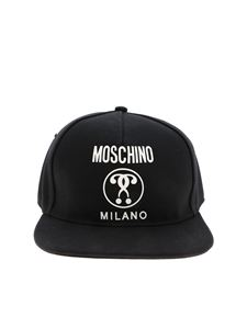 Moschino - Double Question Mark cap in black